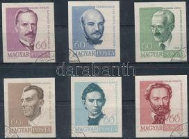 1960 Arcképek (II.) vágott sorból 6 érték (5.400)