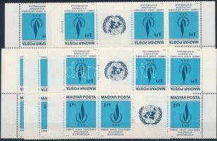 1979 Emberi jogok 5 db csíkpár (a 2. és 3. fordított csík együtt) (11.000)