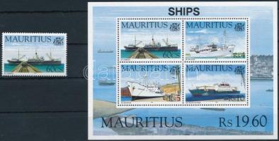 Hajók 1 érték + blokk Ships stamp + block