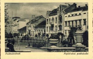 Satu Mare, street, park, Szatmárnémeti, Árpád utca, park