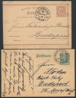 13 db német díjjegyes az 1870-1910-es évekből
