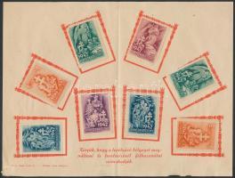 1942 8 db Honvédkarácsony levélzáró gyűjtőlapon