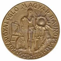 1983. Ózd - 50km Gyalogló Magyar Bajnokság Br plakett (110mm) T:2