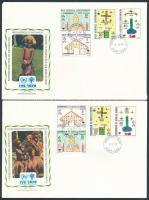 International Children Year's 2 diff sets on 2 FDC Nemzetközi gyermekév 2 klf sor 2 db FDC-n