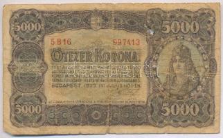 1923. 5000K nyomdahely nélkül, T.W. jelöléssel T:IV