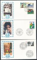 1979 Nemzetközi gyermekév motívum 6 klf FDC