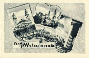 Satu Mare, cathedral, hotel, Szatmárnémeti, Székesegyház, Pannónia Szálló