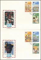 International Children's Year set + block  2 FDC Nemzetközi Gyermekév sor + blokk 2 FDC