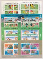 Románia 1984-1988 Sport 5 kisívpár berakólapon