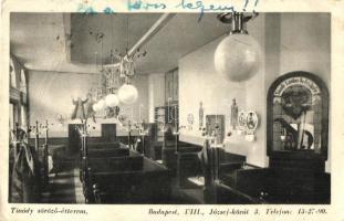 Budapesti vendéglők, Balázs vendéglő és Tinódi söröző - 2 db RÉGI képeslap, vegyes minőség / 2 pre-1945 postcards, restaurants, mixed quality