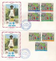International Children's Year set on 2 FDC, Nemzetközi Gyermekév sor 2 db FDC-n