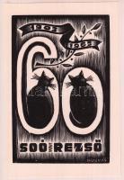 Puskás jelzéssel: Ex libris Soó Rezső. Linó, papír, 11×7 cm