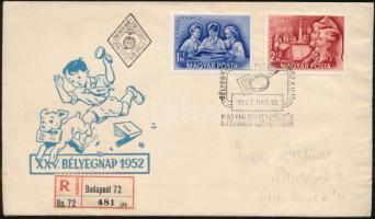 1952 Bélyegnap (25.) sor ajánlott FDC-n
