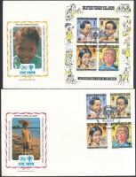 Nemzetközi Gyermekév sor + blokk 2 db FDC-n International Children's Year set + block on 2 FDC