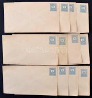 1874 12 db használatlan 10kr díjjegyes boríték (18.000)