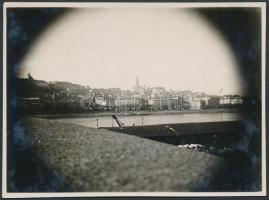 cca 1933 Kinszki Imre (1901-1945): Budai látkép, jelzés nélküli vintage fotó a szerző hagyatékából, 6x8 cm