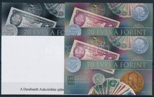2016 70 éves a Forint 4 db-os emlékív garnitúra azonos sorszámmal (005)
