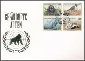Endangered animals (I) set on FDC, Veszélyeztetett állatok (I) sor FDC-n