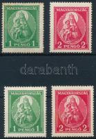 1932 Nagy Madonna 1P újragumizott (rozsda / stain) + 1P falcos + 2P postatiszta + 2P falcos