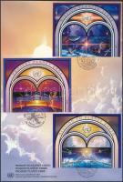 Bécs, Genf, New York 1992 A világűr nwmzetközi éve 3 klf ívszéli pár Mi 133-134, 219-220, 633-634 FDC-n
