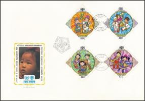 International Year of Children set + block 3 FDC Nemzetközi Gyermekév sor + blokk 3 db FDC-n