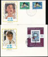Nemzetközi Gyermekév sor + blokk 2 db FDC-n International Children's Year set + block 2 FDC