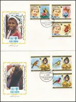 Nemzetközi Gyermekév sor 2 db FDC-n International Children's Year set on 2 FDC
