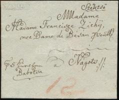 ~1832 Portós levél / Unpaid cover SZEKTSO