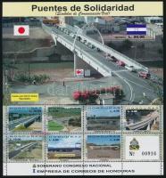 Japan-Honduran cooperation; Bridges minisheet Japán-hondurasi együttműködés; Hidak kisív