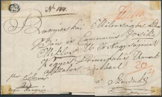 1838 Portós levél / Unpaid cover DEVA