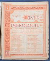 LEcho de la Timbrologie 1923 április - 1925 március közötti számai 2 kötetben bekötve