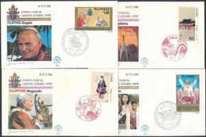 1981 II. János Pál pápa ázsiai útja 13 klf alkalmi boríték és FDC