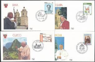 1984-1987 II. János Pál pápa utazásai 23 db klf alkalmi boríték