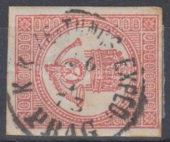 1871 Könyvnyomású Hírlapbélyeg prágai érkezési bélyegzéssel