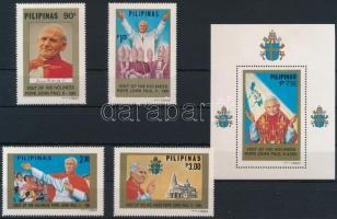 II. János Pál pápa sor + blokk Pope John Paul II set + block