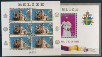 1983 II. János Pál pápa kisív Mi 696 + blokk Mi 57