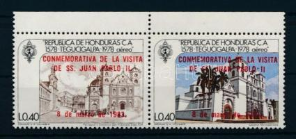 1983 II. János Pál pápa sor ívszéli párban Mi 1002-1003