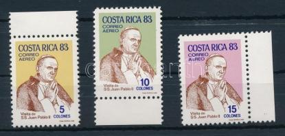 1983 II. János Pál pápa ívszéli sor Mi 1193-1195