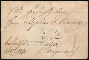 ~1821 Portós levél / Unpaid cover WASVAR