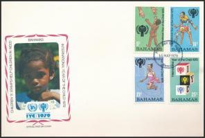 Nemzetközi Gyermekév sor + blokk 2 db FDC-n International Year of Children set + block 2 FDC