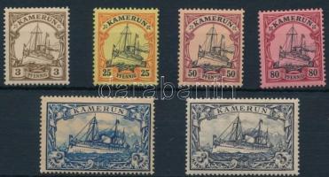 Imperial yacht 6 diff stamps Császári jacht sor 6 klf értéke