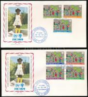 International Children's Year set on 2 FDC Nemzetközi Gyermekév sor 2 db FDC-n
