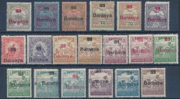 Baranya I. 1919 19 klf érték Bodor vizsgálójellel (6.400) (35f sérült / damaged)
