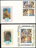 Nemzetközi Gyermekév sor + blokk 2 db FDC-n International Children Year set + block on 2 FDC
