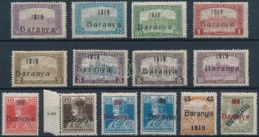 Baranya I. 1919 14 klf érték Bodor vizsgálójellel (8.275)