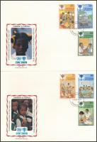 International Children's Year set + block 3 FDC Nemzetközi Gyermekév sor + blokk 3 db FDC-n