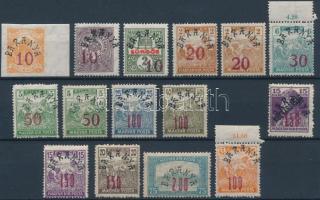 Baranya II. 1919 Teljes sor Bodor vizsgálójellel (4.100)
