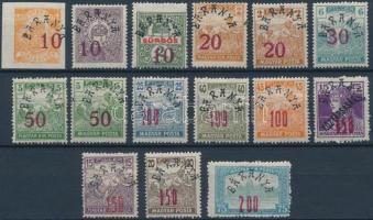 Baranya II. 1919 Teljes sor, a Parlament 200f/75f tévnyomattal, Bodor vizsgálójellel (5.000)
