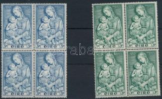 1954 Mária sor 4-es tömbökben Mi 120-121
