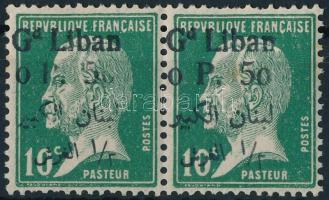 1924 Mi 43 pár az egyik bélyegen hiányos az értékszám és felirat (foghiba)